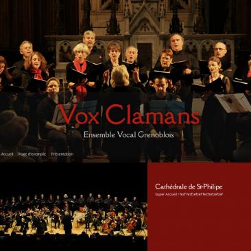 Site internet pour la chorale Grenobloise : Vox Clamans