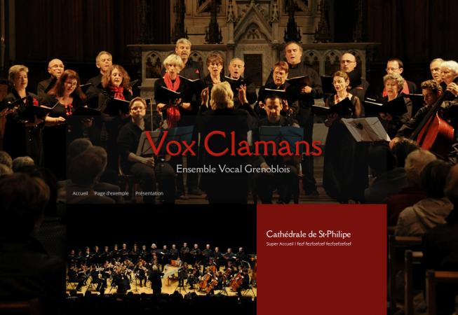 Site réalisé par BenoitP pour Vox Clamans