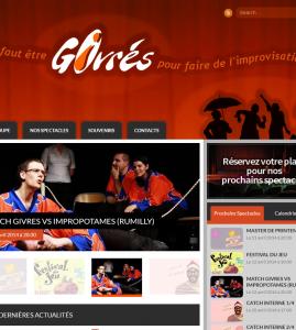 Site internet pour l'association de théâtre d'improvisation : Les Givrés