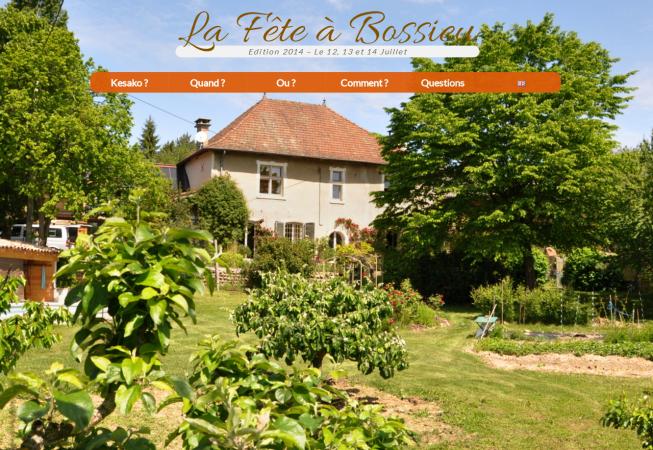 Site réalisé par BenoitP pour Bossieu