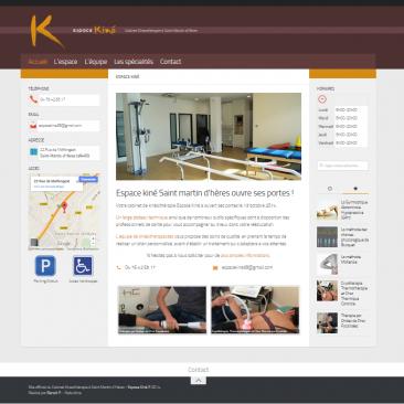 Site internet du cabinet de kinésithérapie : Espace Kiné