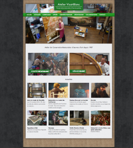 Site internet Atelier de restauration : Vicat Blanc