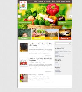 Site internet Association La clef des Champs