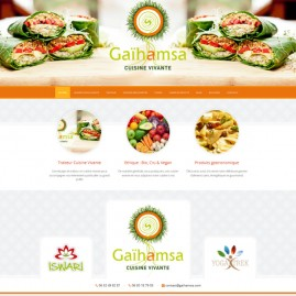 Site internet traiteur alimentation vivante : Gaihamsa