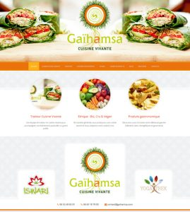 Site internet traiteur alimentation vivante : Gaihamsa