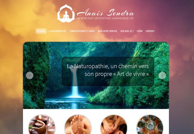 image du site internet Naturopathie Harmonie
